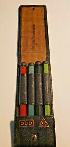 Vintage SK Pencil Set With Leather Holder