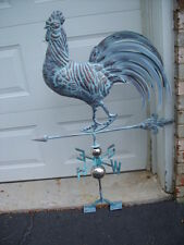 Large 3D Rooster Weathervane Antique Copper Finish Chicken Weather Vane