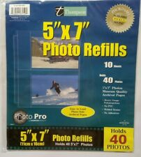 """2 Packs Of Thompson Photo Refills Holds 60 Photos 4""""x 6"""" Holds 120 Photos Total"""