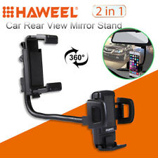 Universal HAWEEL 2 in 1 Car Rear View Mirror Stand Cell Phone Mount Holder