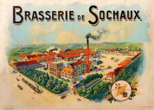 BRASSERIE DE SOCHAUX, France, 1905, 250gsm A3 Poster