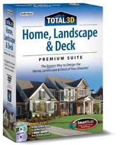 TOTAL 3D Home, Landscape, & Deck Premium Suite 12 PC Software--Win 10,8,7,XP-new