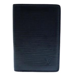 Auth LOUIS VUITTON Pocket Organiser Epi Navy Blue Card Holder M61821 #W409126