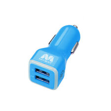 Blue Car Charger Adapter Dual USB Output 3.1A Rapid Charging For Phones