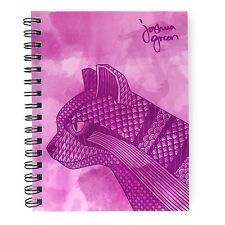 Monster Stationery - Joshua Green A5 Lined Notebook - Made in Uk - Wild Cat