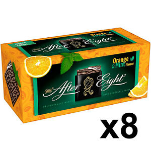 8 x After Eight Limited Edition Mint & Orange Flavour Nestle Thins 200g EXP.6/21