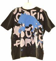 PUMA Boys Graphic T-Shirt Top 9-10 Years Black Cotton  KW13