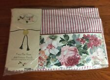 CROSCILL Twin  FLAT Sheet ~ ROSE ARBOR ~ NEW in package !