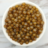 NEW 50PCS 6mm Glass  Pearl Spacer Loose Oblate Beads Jewelry Making Craft 31