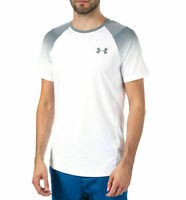 Under Armour Men's MK1 Dash Left Chest White T-Shirt (Size's M L XL XX-L) NEW