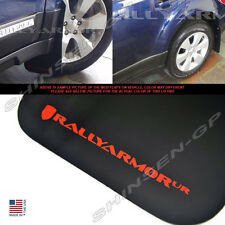 RALLY ARMOR UR BLACK MUD FLAPS FOR 2010-2014 SUBARU OUTBACK  w/ RED LOGO