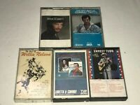 LOT OF COUNTRY CASSETTE TAPES, WILLIE NELSON, CONWAY TWITTY EDDIE RABBIT ETC
