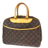 Authentic LOUIS VUITTON Deauville Hand Bag Monogram Leather Brown M47270 82MF210