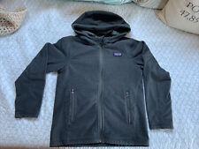 Patagonia Boys S 8 Thermal Grey. Zip Up Hoodie Zipped Pockets. EUC