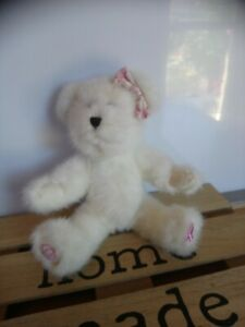 Peluche doudou ours blanc 22 cm The boyds collection comme neuf