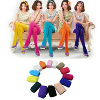 Fashion Candy Colors Opaque Footed Socks Tights Pantyhose Women Stockings Worthy