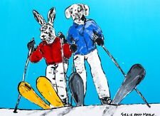GILLIE AND MARC-direct from the artists-authentic artistic print skiing snow