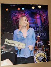 Taylor Hawkins Signed Foo Fighters Autograph COA. Proof b