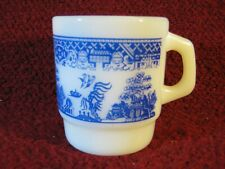 Vintage Blue Willow Fire King Anchor Hocking Mug Made in USA