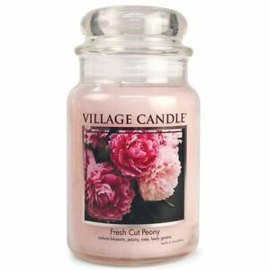 Village Candle Double Wick Large Candle Jar - Fresh Cut Peony