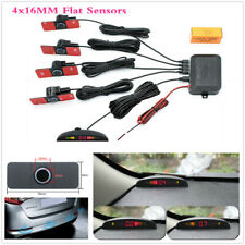 4x16mm Flat Sensor LED Display Car Parking Reverse Backup Radar Monitor Detector