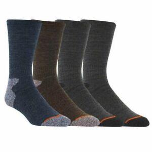 Weatherproof Men's Vintage Outdoor Wool Blend Crew Socks 4-Pack, Shoe Size 6-12)