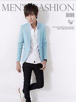Stylish Men's Casual Slim Fit One Button Suit Blazer Coat Jacket Tops UK 2017