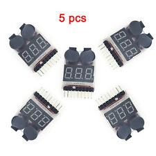 5 x 1-8S 2in1 RC Li-ion Lipo Battery Low Voltage Meter Tester Buzzer Alarm
