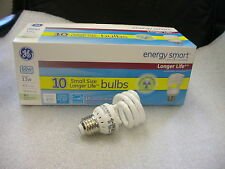 GE Energy Smart 13W CFL Soft White Spiral Bulbs 10 Pack, Model: 70909