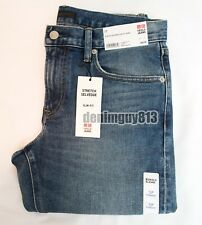 NWT Uniqlo Selvedge 29x34 Slim Straight Fit Light Blue Men's Denim Jeans