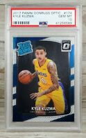 2017 Panini Donruss Optic #174 Kyle Kuzma RC Rookie PSA 10 GEM MINT Pop. 196