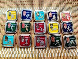 Vintage Soviet Pin Badge Collection Olympics 1980,Moscow,USSR