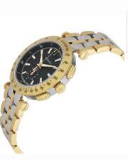 Versace MEN'S 'v-carrera' Suizo De Cuarzo Acero Inoxidable Reloj Informal, dos tonos BNWT.