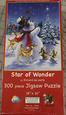 Rare Star of Wonder Puzzle 300 Pcs SunsOut Snowman Animals Winter Scene New