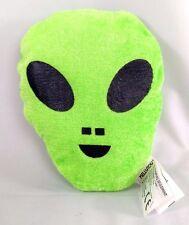 """Green ALIEN Head Plush Stuffed Animal Toy by KELLYTOY 2016  5"""" Tall ~Sci-Fi SyFy"""