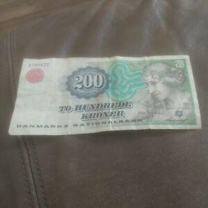 Denmark 200 kroner 1997 circulated @ low start, no tears