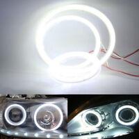 60LED 70mm Universal Auto COB Angel Eyes Warning Headlight Halo Ring Drving Lamp