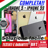 SCOCCA POSTERIORE COMPLETA+FLAT PER APPLE IPHONE IPHONE 5 5G 5S BACK COVER_24H!!