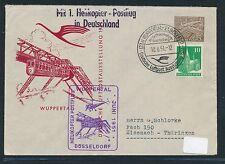 87709) Helikopterpost BRD Wuppertal 10.6.51, 15PF PU Berlin Zusatz in die DDR