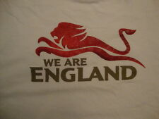 """""""We Are England"""" Sports Football Cricket White T Shirt XL"""