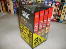 Vhs *EHQ180 SKC 4 Pack * Four Brand New Factory Sealed Blank 3 Hour Video tapes