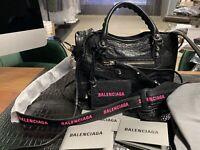 BALENCIAGA CLASSIC MINI CITY LOGO STRAP BAG SHOPPER TASCHE HANDBAG WEEKENDER