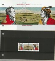 Guernsey Mint Stamps 15.6.12 presentation pack BROCK & TECUMSEH ALLIES 1812