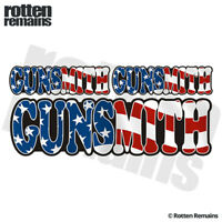 "Gunsmith American Flag 6"" Decal Sticker Pack USA Guns Firearm Gun Repair ZU1"