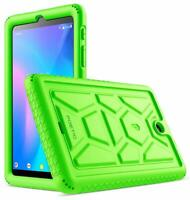 Alcatel Joy Tab 8 Tablet Case Poetic Soft Silicone Protective Cover Green