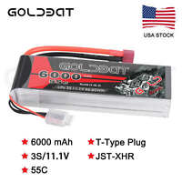 GOLDBAT 6000mAh 55C 11.1V 3S LiPo Battery Deans Plug for RC Car Helicopter Truck