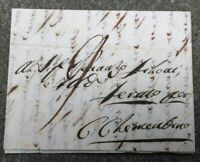 1846 PREFILATELICA DA PADOVA A CASTEL CLEMENTINO (L'ODIERNA SERVIGLIANO) MARCHE
