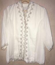 Ladies Cream With Beige Pattern Shirt Size 16<NH4257