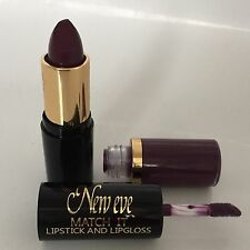 New Eve Trendy DARK CHOCOLATE Match it Lipstick and Lip Gloss Cosmetic  Makeup