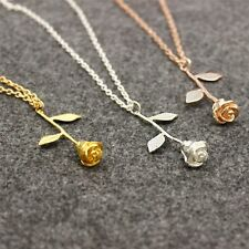 New Lovely Rose Flower Pendant Necklace Beauty Charm Jewelry Choker Necklaces